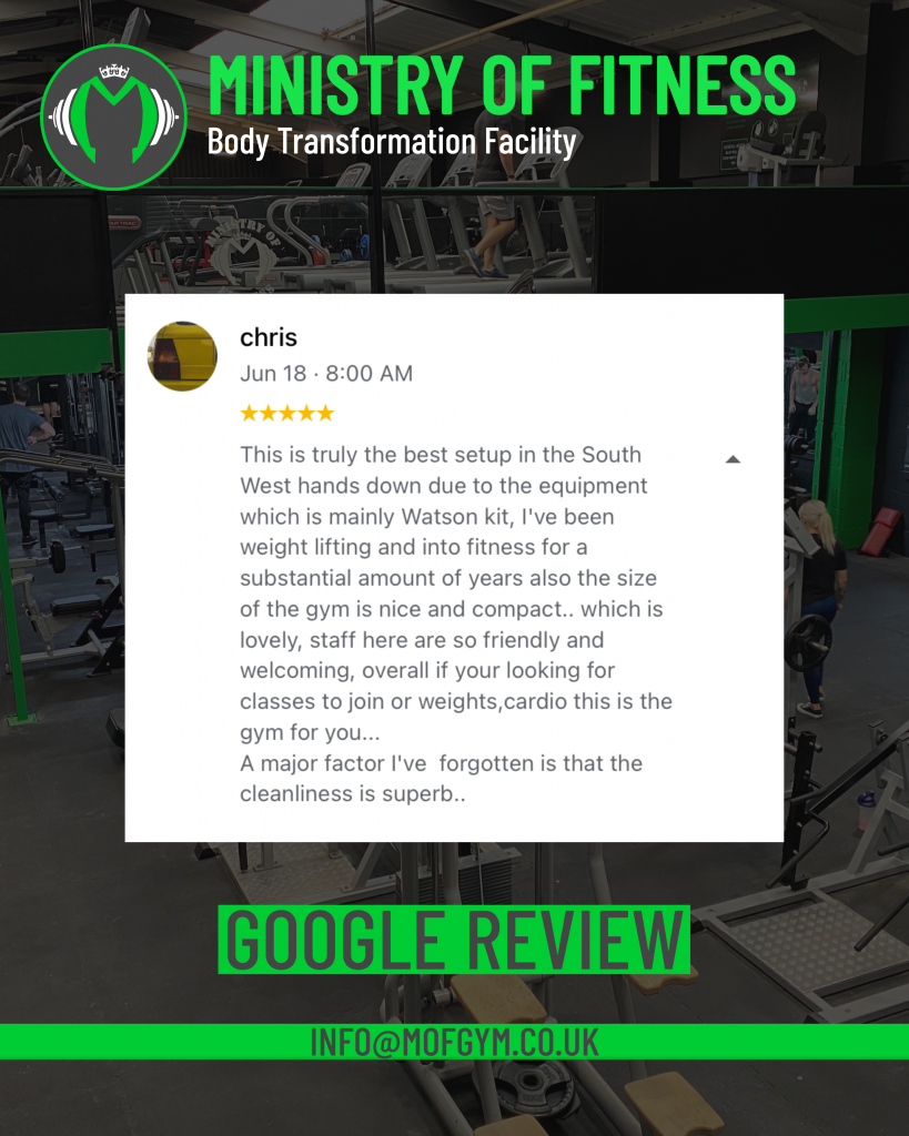 Google review Chris